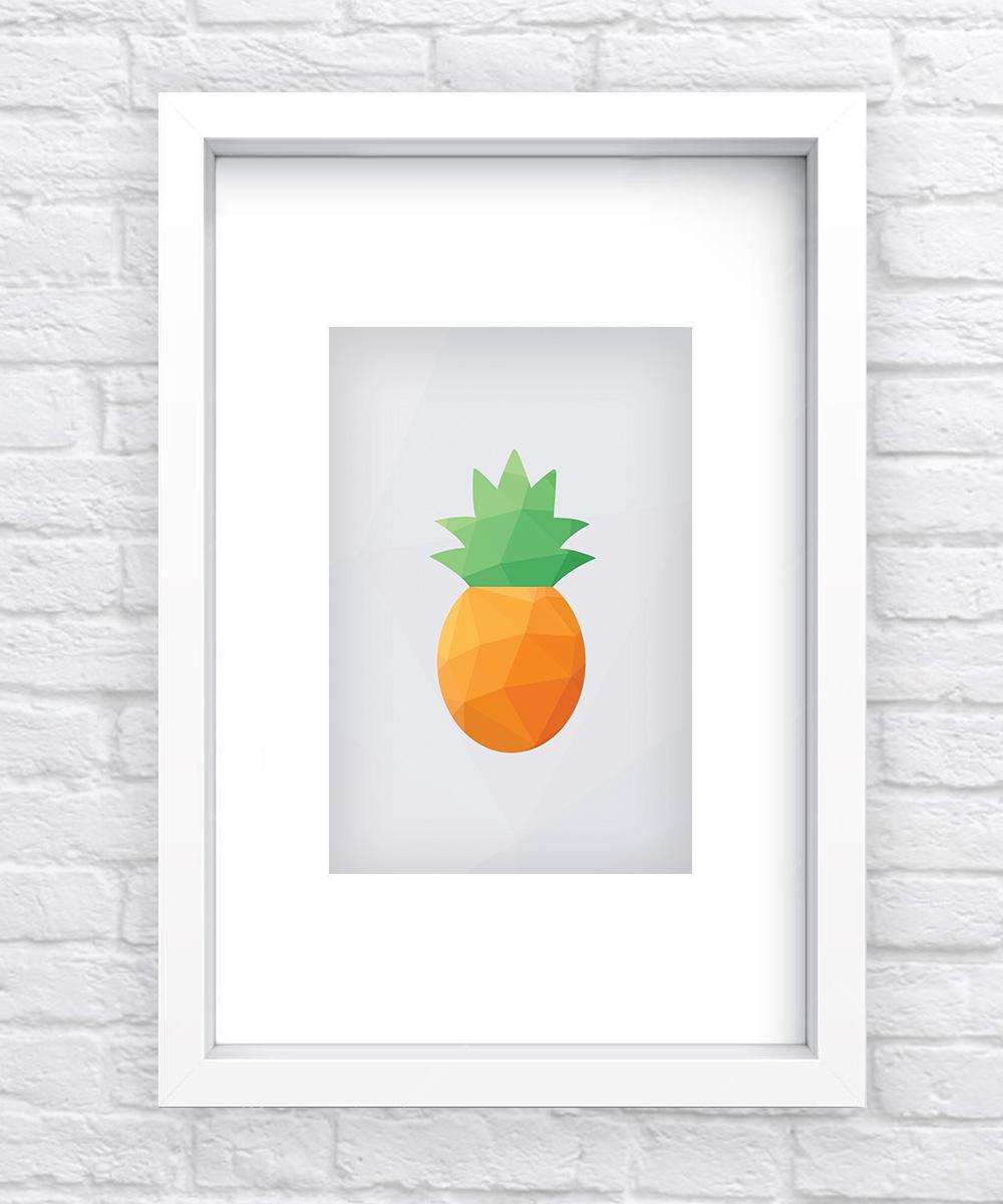 Pineapple Geometric Print