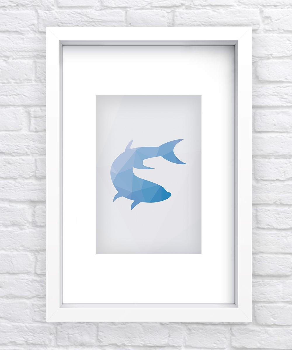 Shark Geometric Print